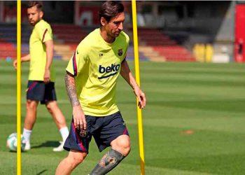 Messi se incorpora a los entrenamientos del Barcelona