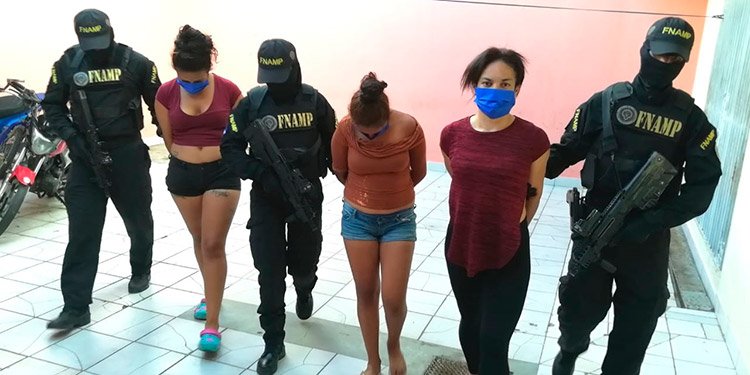 """Las Nenas"" de la extorsión apresadas por la FNAMP"