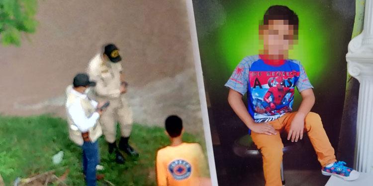 Ayer los socorristas y buzos de los bomberos seguían buscando el cuerpo del niño Bayron Ariel Sánchez Baquedano (foto inserta).