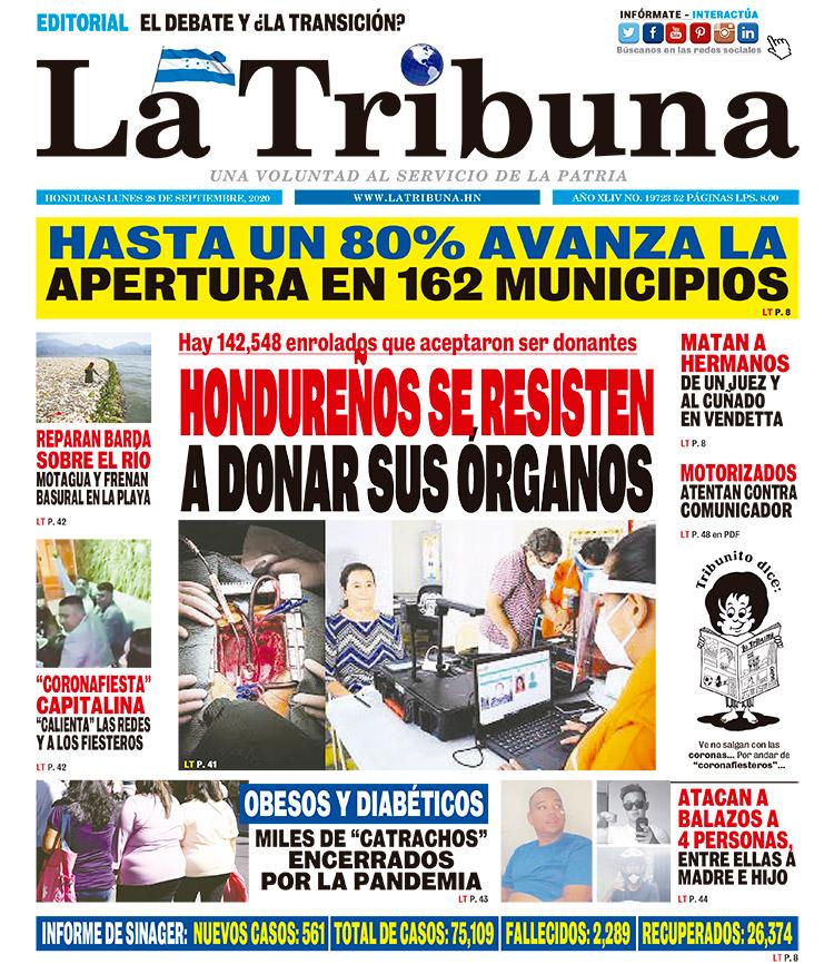 HONDUREÑOS SE RESISTEN A DONAR SUS ÓRGANOS