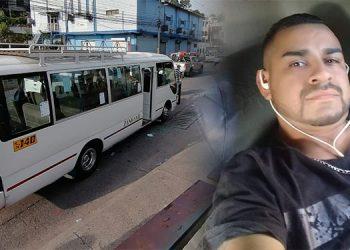 """El motorista Ariel Mejía (foto inserta) fue atacado a tiros cuando esperaba pasajeros en la avenida """"Nixon"""", entre las colonias Monseñor Fiallos y El Country."""