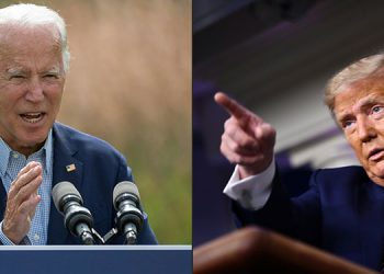 Frente a decenas de millones de estadounidenses pegados a sus pantallas, el debate entre Donald Trump y Joe Biden se anuncia como un gran evento, aunque su impacto en la elección de noviembre podría ser limitado. (LASSERFOTO AFP)