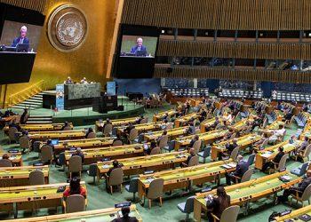 La ONU conmemoró el lunes su 75 aniversario con una cumbre internacional muy deslucida por el coronavirus. (LASSERFOTO EFE)