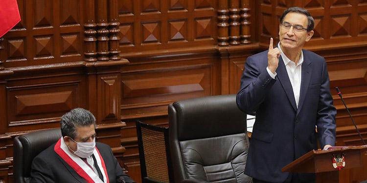 Congreso de Perú rechaza la destitución del presidente Martín Vizcarra