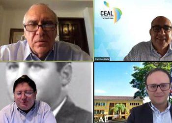 """Alberto Trejos y Jaime García presidieron las conferencias """"Reactivación inteligente un esfuerzo de todos"""" en presencia de líderes de Latinoamérica."""