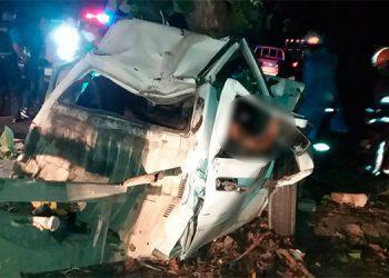 El trágico accidente sucedió la madrugada de hoy, en la carretera CA-5, entre las ciudades de Villanueva y San Pedro Sula, Cortés.