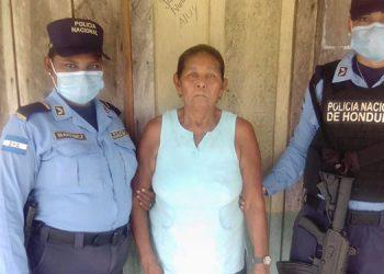 La detenida fue remitida al juzgado que ordenó su arresto en Puerto Lempira.