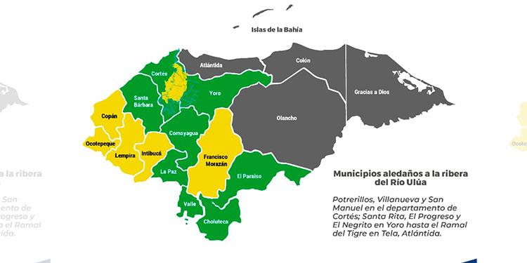 Alerta amarilla para Copán, Ocotepeque, Lempira e Intibucá