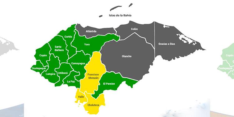 Alerta amarilla para Francisco Morazán Choluteca y Valle