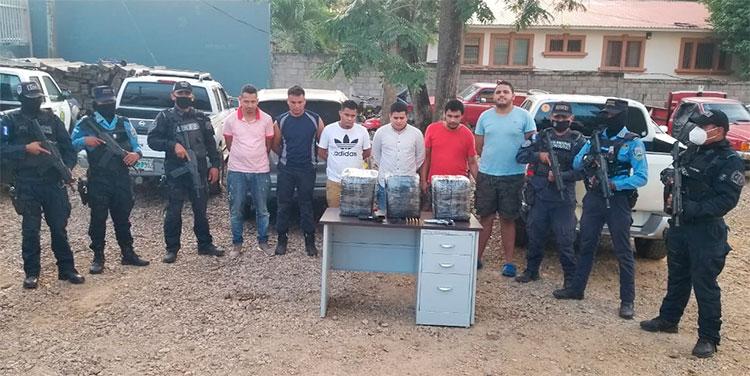 Capturan a seis miembros de banda criminal en Olancho