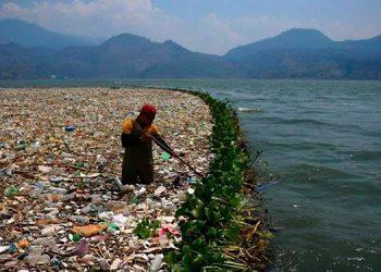 Las Fuerzas Armadas de Honduras mantienen trabajos de limpieza en las playas de Omoa para reducir la contaminación.