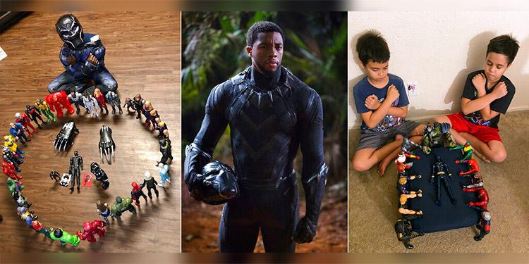 Niños lloran a Black Panther en funerales simbólicos