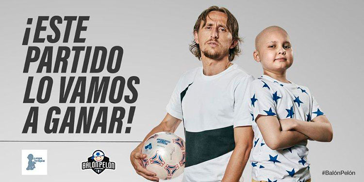 Joven progreseño participa en campaña de niño con cáncer con Luka Modric