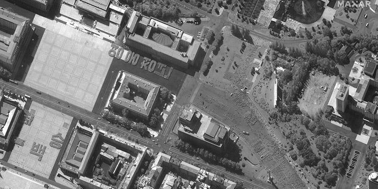 Norcorea se alista para desfile, según imágenes satelitales