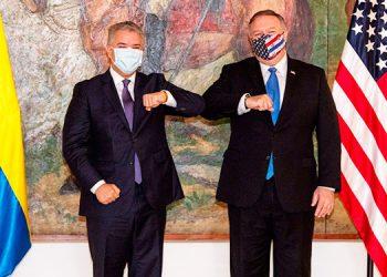 Pompeo agradece a Duque el apoyo para una Venezuela 'sin influencia maligna'