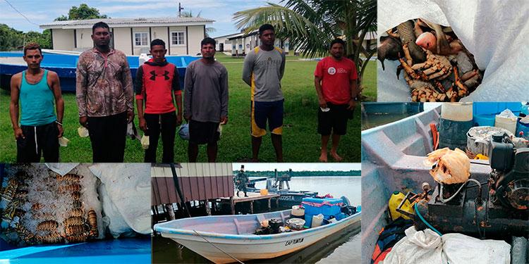 Detienen a seis nicaragüenses con pesca ilegal en aguas hondureñas