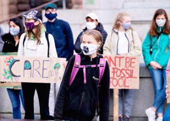 Greta Thunberg encabeza la manifestación de Fridays for Future en Estocolmo