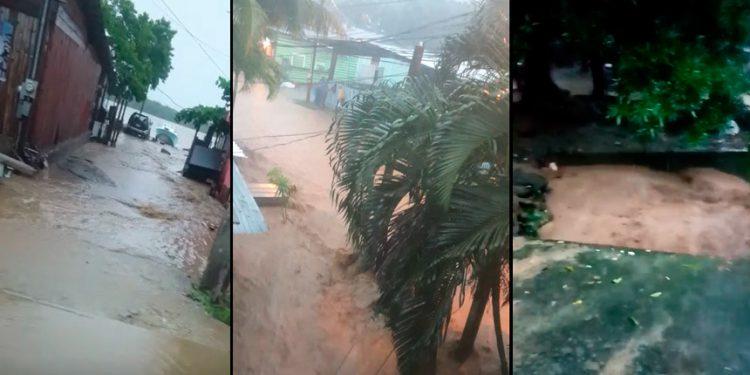 Zozobra en Roatán por primeras lluvias de Nana (Videos)
