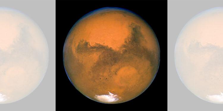 Polo sur de Marte podría tener lago salado y estanques