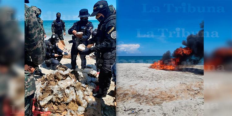Incineran varias libras de marihuana decomisada en Atlántida