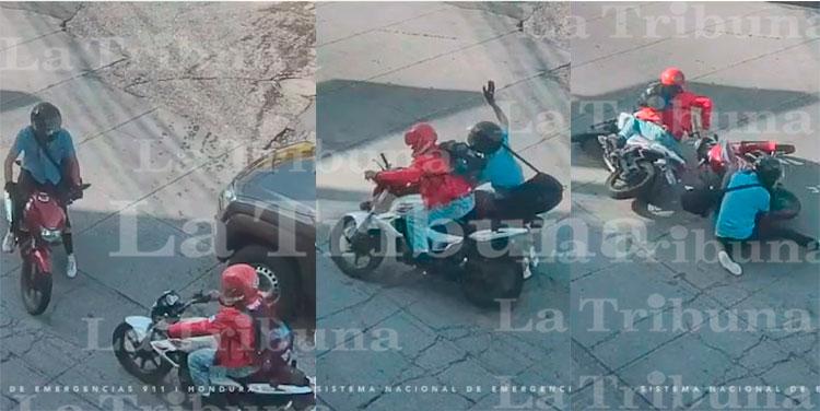 Encontronazo entre dos motocicletas es captado por cámaras del 911 (Video)