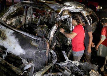 Trece muertos en accidente de furgoneta en Pakistán