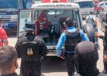 Hombre intenta suicidarse frente a posta policial de Comayagüela