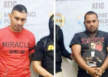 Elmer Alexis Erazo Cardona y Elmer Adolfo Matute Fúnez fueron detenidos en el 2018.