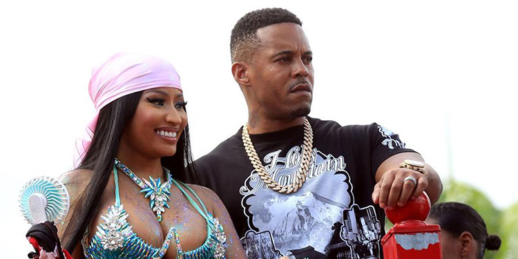 La rapera estadounidense de origen trinitense, Nicki Minaj, y su esposo Kenneth Petty.