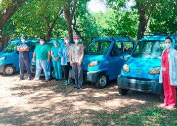 Los vehículos pequeños fueron comprados por la Fundesur con fondos del BID.