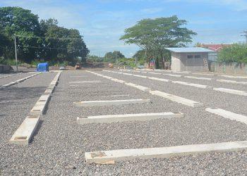 El plantel de más de 5,000 metros cuadrados para el Hospital Móvil, está listo en un 98 por ciento.