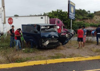 El percance sucedió a unos 15 metros de la estación policial de Santa Elena, sobre la carretera Panamericana.