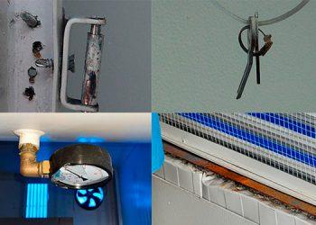 Filtración de agua y llavines oxidados encuentra CNA en hospitales móviles