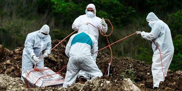 Funerarias reportan 6,200 muertes por COVID-19 a nivel nacional