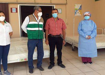 Las camas donadas servirán para atender a los pacientes que necesiten ingreso en el triaje de Marcovia, Choluteca.