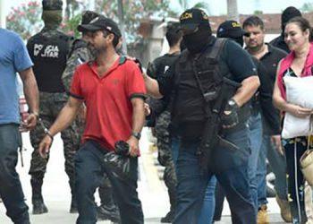 Ericka Bandy, su fallecido esposo Magdaleno Meza, Daniel Tico y José Santos Mejía fueron detenidos en el 2018.