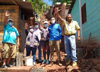 Fundación Terra coloca la primera piedra para construcción de senderos comunitarios
