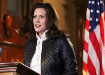 La Gobernadora de Michigan, Gretchen Whitmer. AP