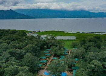 El complejo Lagolandia, que fue inaugurado por el mandatario.