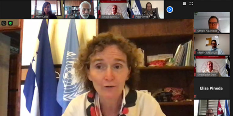A través de un evento virtual, Naciones Unidas y delegados del gobierno de Honduras festejaron el 75 aniversario del organismo internacional.
