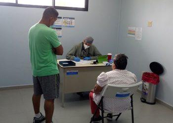 Las atenciones médicas iniciaron este día en el centro de triaje de Siguatepeque.