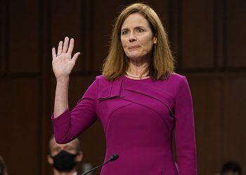 El Senado se pronunciará el lunes, sobre la candidatura de la jueza Amy Coney Barrett, nominada por Donald Trump a la Corte Suprema. (LASSERFOTO AP)