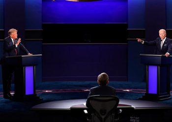 El último debate entre el presidente Donald Trump y el contendiente demócrata, Joe Biden, será este jueves en Nashville, a menos de dos semanas para el día de las elecciones. (LASSERFOTO EFE)