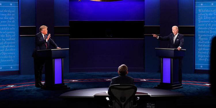 Trump y Biden, en un nuevo debate con micrófonos silenciados
