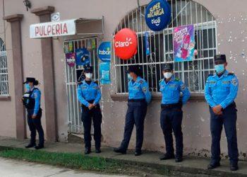 Los agentes policiales llegaron hasta patrullando hasta las proximidades de la colonia Brisas del Río, Comayagua.