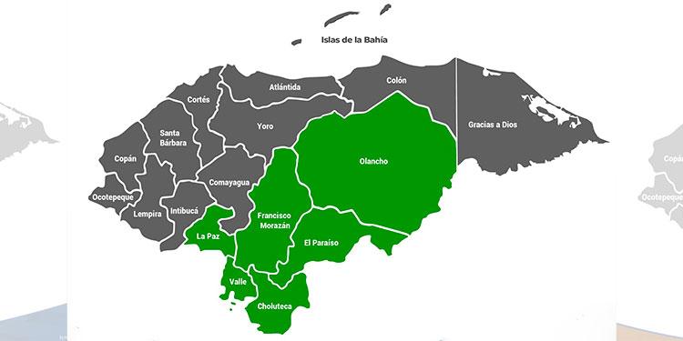 Seis departamentos de Honduras en alerta verde por vaguada