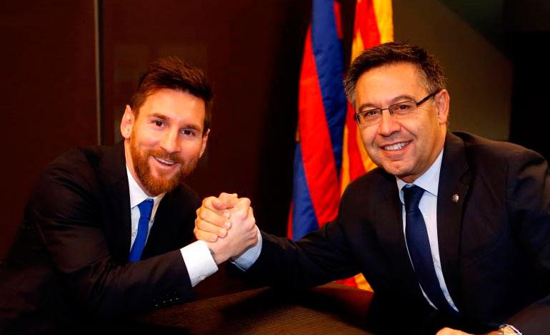 """""""Messi es la clave de este nuevo proyecto"""", dice Bartomeu"""