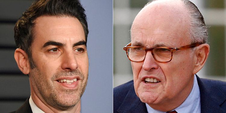 'Borat 2' muestra a Giuliani en situación incómoda en hotel