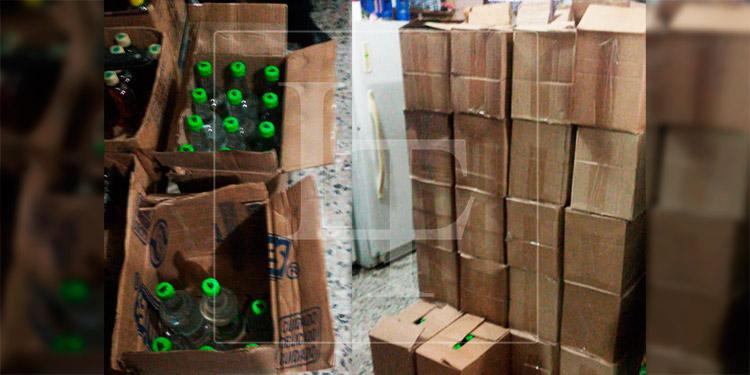 Decomisan varias cajas de licor presuntamente adulterado en Cortés
