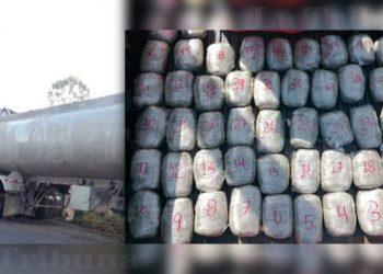 Dentro de carro cisterna pandilleros transportaban droga